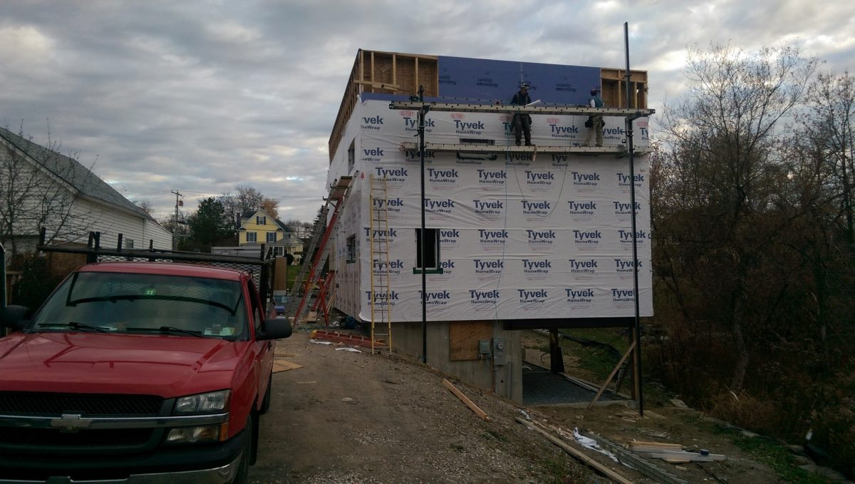 Passive House Construction Continues – Blower Door Test Results