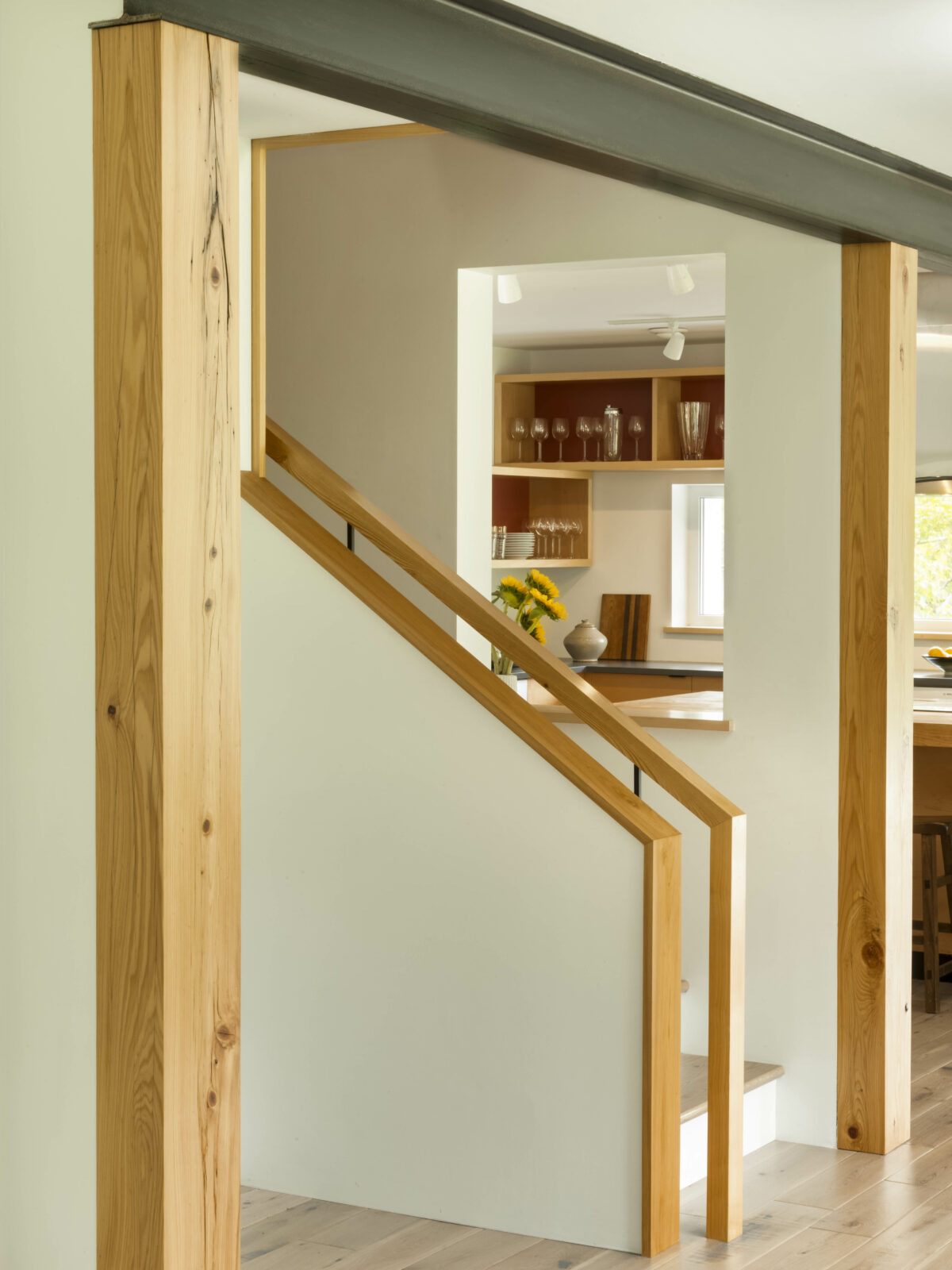 Banister Detail from Champagne Rock Passive House